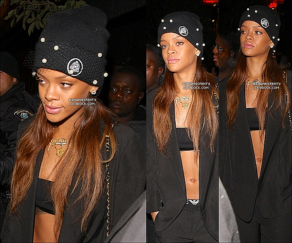 .12.01.2013 : Notre belle Rihanna a été aperçue quittant le Supper Club à Los Angeles.   .