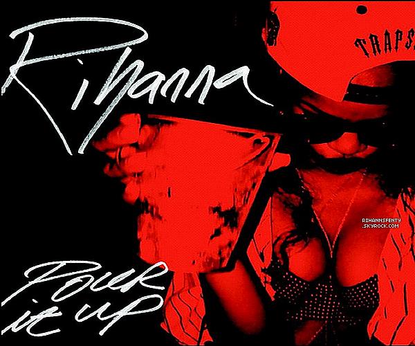 Découvrez les pochettes des singles  « Stay »  et « Pour it Up » de l'album Unapologetic.