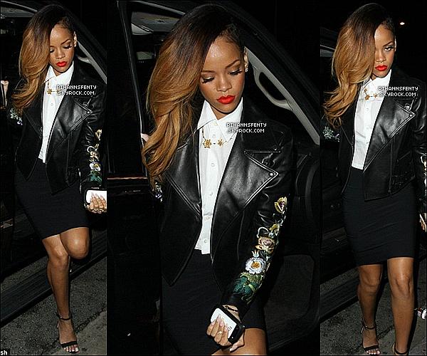 .20.01.2013 : Rihanna était de sortie, elle s'est rendue au club Greystone Manor à Los Angeles.   .