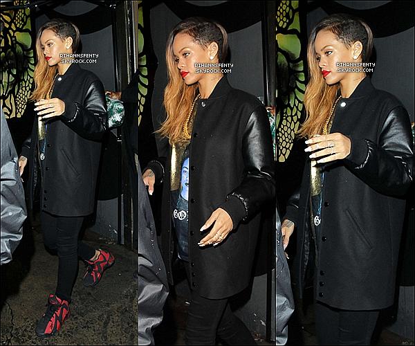 .23.01.2013 : Notre chére Rihanna à été aperçue quittant le club Hype à Los Angeles.   .