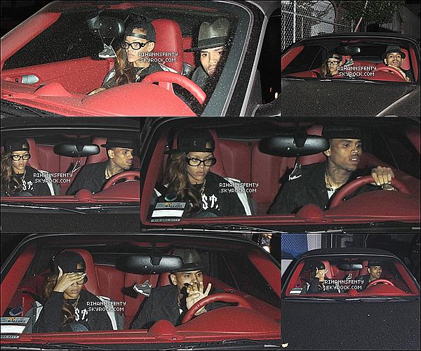 .05.02.2013 : Rihanna a été aperçue se rendant en studio d'enregistrement avec Chris Brown.   .