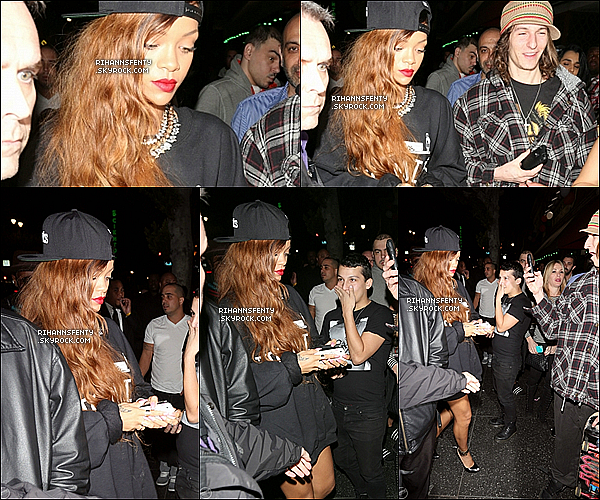 .26.02.2013 : La belle Rihanna et le beau Chris Brown on été vue dans le club Supperclub à L.A.   .