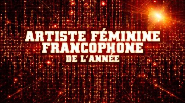 Chanteuse Francaise de l'année