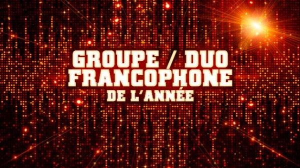 Groupe/duo Francais de l'année