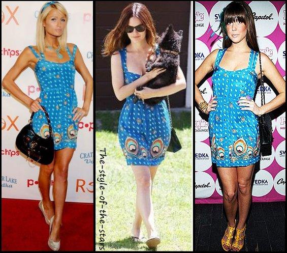 Qui la porte le mieux ? Robe estivale bleue turquoise.