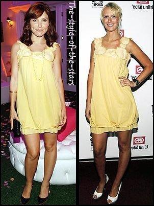Qui la porte le mieux ? Robe jaune pastel.