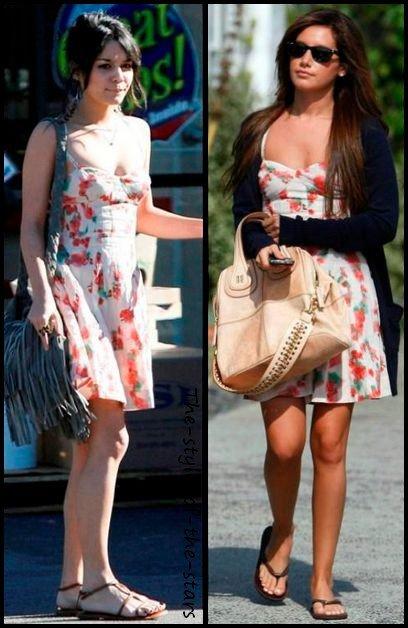 Qui la porte le mieux ? Robe motifs fleuris .