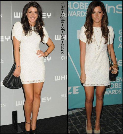 Qui la porte le mieux ? Robe blanche à dentelle.
