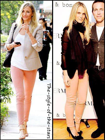 Qui le porte le mieux ? Slim couleur saumon.