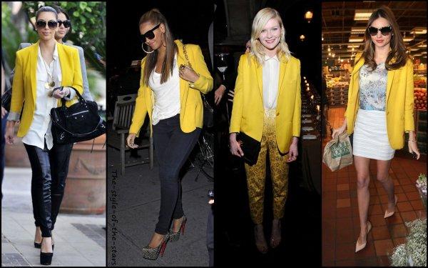 Qui le porte le mieux ? Blazer jaune.
