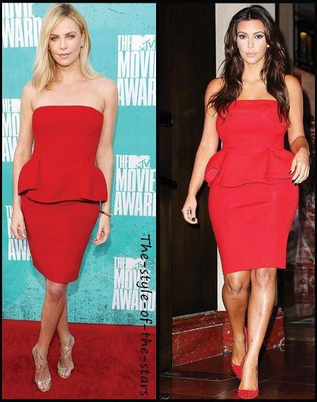 Qui la porte le mieux ? Robe bustier rouge.
