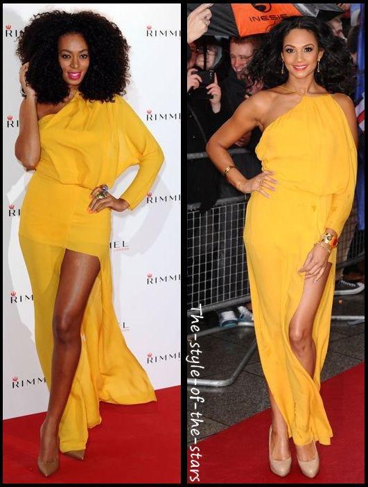 Qui la porte le mieux ? Robe longue jaune.