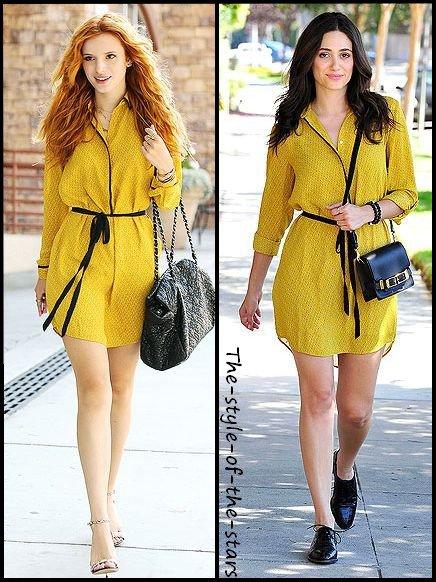 Qui la porte le mieux ? Robe jaune et noire.