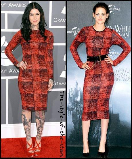 Qui la porte le mieux ? Robe moulante noire et rouge.