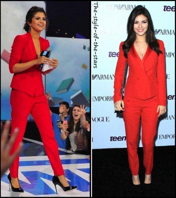 Qui le porte le mieux ? Costume rouge.