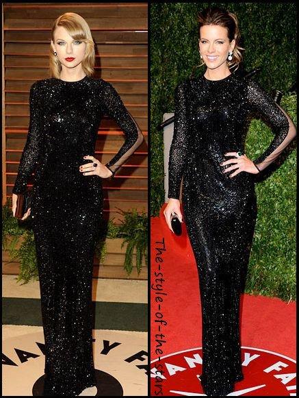 Qui la porte le mieux ? Robe longue noire à paillettes.