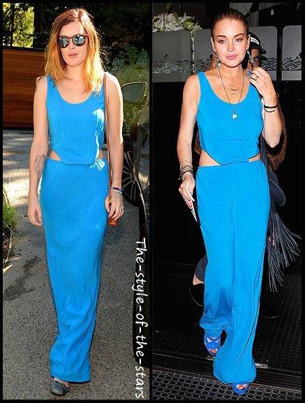 Qui la porte le mieux ? Robe longue bleue turquoise.