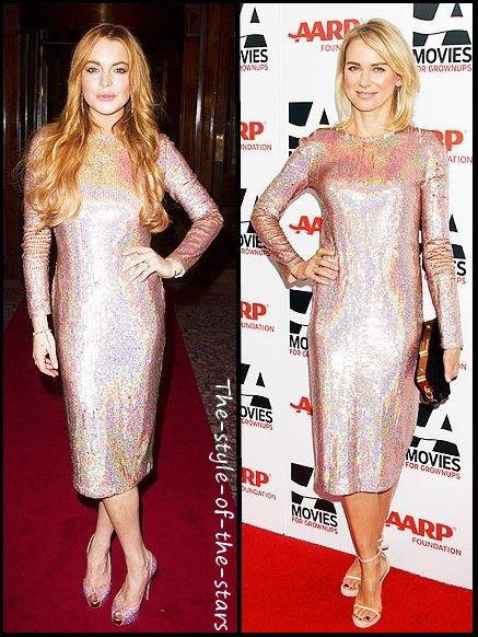 Qui la porte le mieux ? Robe effet holographique.