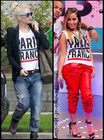 """Qui le porte le mieux ? T-shirt """"PARIS FRANCE""""."""