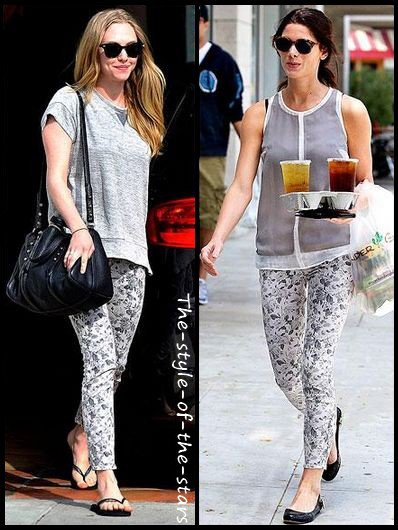Qui le porte le mieux ? Pantalon motifs fleuris.