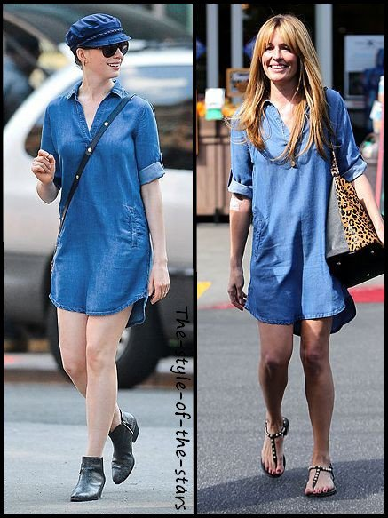 Qui la porte le mieux ? Robe en jean.