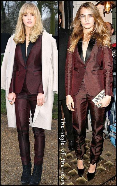 Qui le porte le mieux ? Costume Burberry.