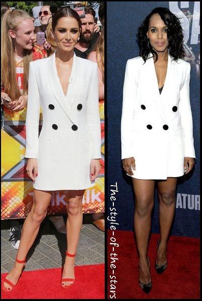 Qui la porte le mieux ? Robe veste blanche.