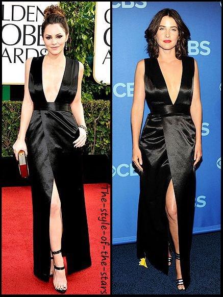 Qui la porte le mieux ? Robe noire décolletée.