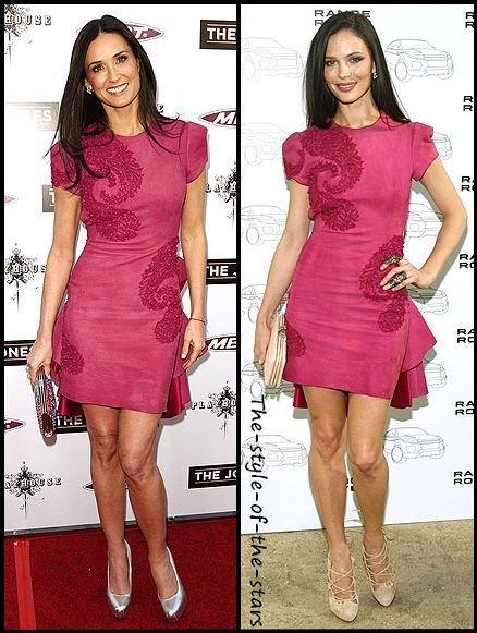 Qui la porte le mieux ? Robe rose à volants.