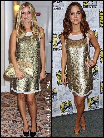 Qui la porte le mieux ? Robe dorée.