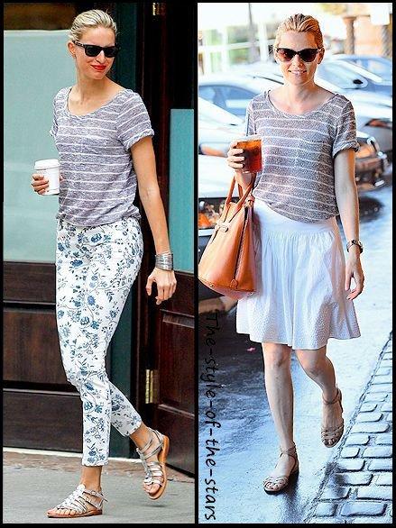 Qui le porte le mieux ? T-shirt à rayures.