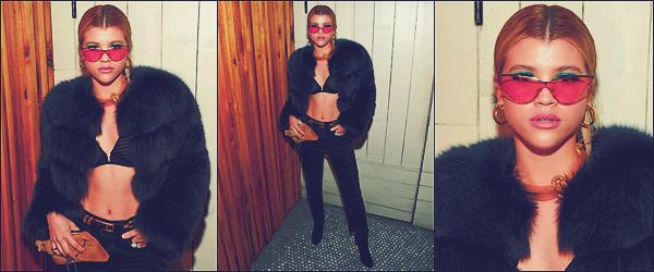 - 08/03/17 - C'est à la DL1961 Campaign que Sofia était accompagnée par Jasmine Sanders à Los Angeles. Le soir-même, Sofia à était vu sortant du Matsuhisa dans Beverlly Hills avec Chloé Bartoli.J'accorde unpetit topà sa tenue ! -