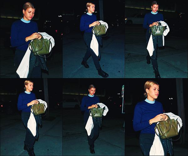 - 19/03/17 - Notrebelle blonde et mannequin Sofiaà était aperçue sortant d magazin Barney'sàBeverly Hills. C'est le soir que nous retrouvons notre jeune blondie dans les rues de West Hollywood. J'accordeun mini top à sa tenue! -