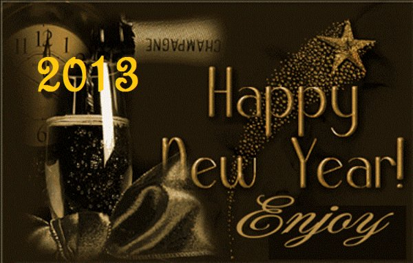 HAPPY NEW YEAR 2013 !!!!!!!!!!!! <3  !!! :D !!!