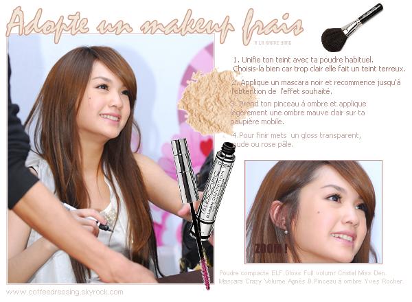 Tutoriel makeup : Ton maquillage frais à la Rainie Yang.