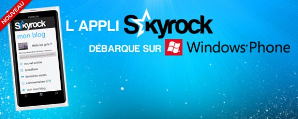 L'appli Skyrock.com disponible sur Windows Phone !