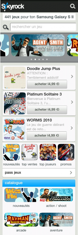 Exclusivité mobile ! Découvre tous les jeux vidéos du moment sur ton mobile !