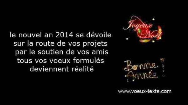 Bonne et heureuse année 2014 à toutes et tous mes amis