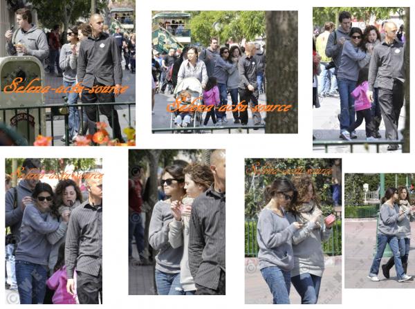 Selena à disney land californie le 9 Avril