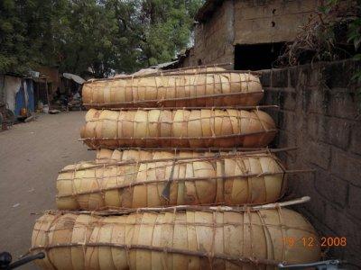 voilà les calebasse en route pour le marché