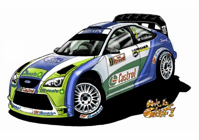Caricature ford wrc voitures de rallyes - Caricature voiture ...