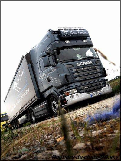 """Scania new r500 """"trans Alain Foulon"""" driver boomrang simple mais tres beau et qui evolue pti a pti avc les moyens"""