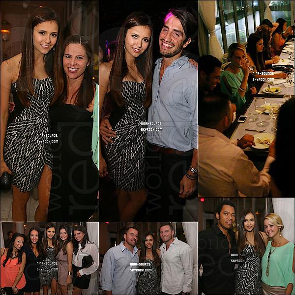"""18/08/2012-  Nina était à un fête pour célébrer le dernier numéro de """"Ocean Drive"""" à Miami."""