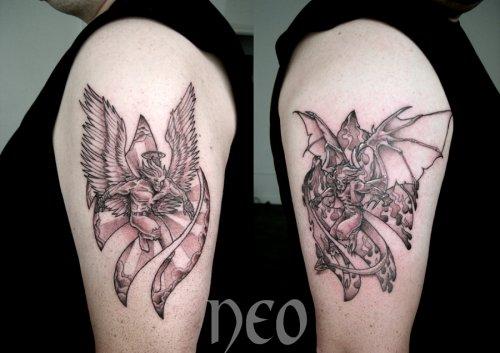 Ange Et Demon Sur Les Bras Blog De Neo Castillo Tattoo