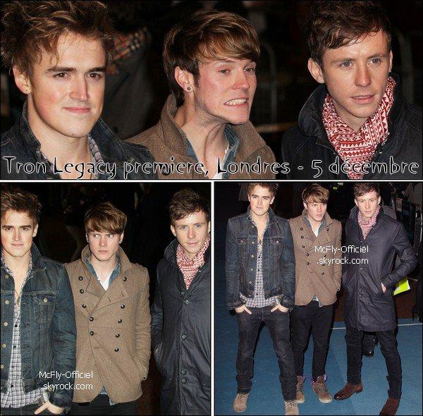 06 Décembre 2010 : Danny, Tom & Dougie à Tron Legacy premiere, Londres