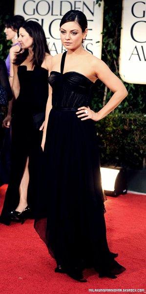 . Evénement 15/01/12 : Mila a assisté a la 69e cérémonie des Golden Globes un Enorme Top pour sa tenue ! .