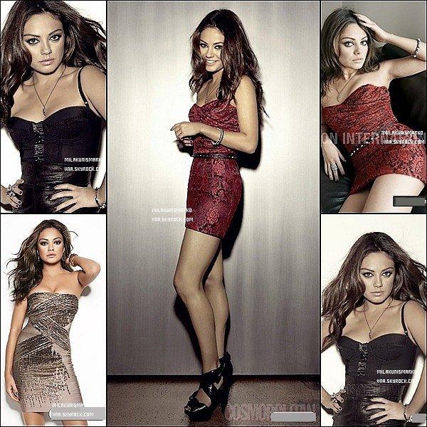 .Photoshoot :  Plusieurs photo de Mila sont apparue elle provienne du Cosmopolitan Magazine de mois de février  .