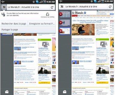 Navigateur mobile : Firefox 4 sur Android