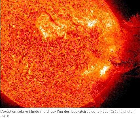 Une éruption solaire risque de perturber les communications