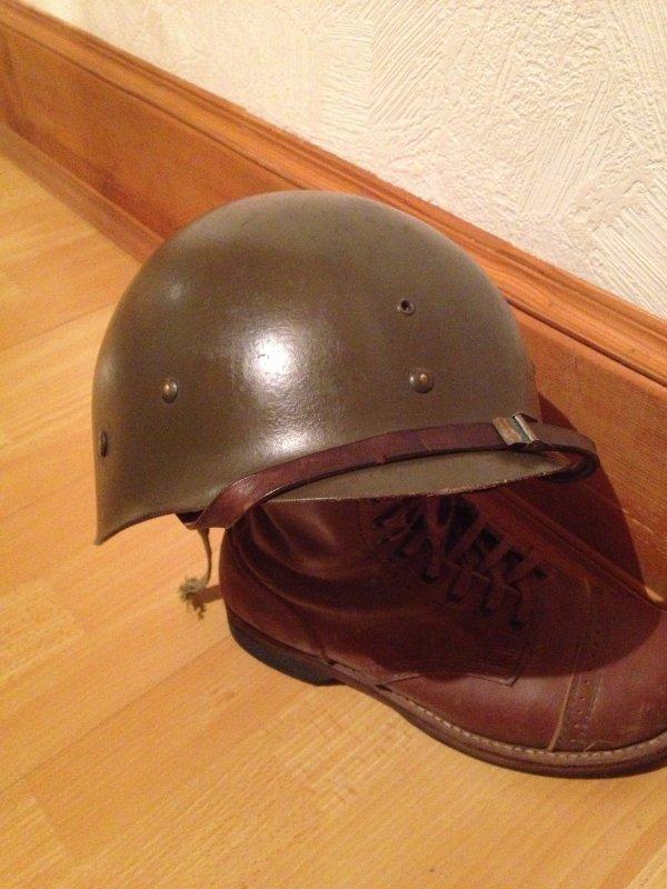Sous-casque (liner) complet, provenance armée belge.(TYPE US WWII)